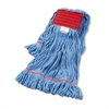 Super Loop Wet Mop Head, Cotton/Synthetic, Large Size, Blue, 12/Carton