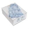 Mop Head, Floor Finish, Narrow, Rayon/Polyester, Medium, White/Blue, 12/Carton
