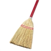 "Boardwalk Lobby/Toy Broom, Corn Fiber Bristles, 39"" Wood Handle, Red/Yellow"