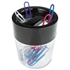 Universal Magnetic Clip Dispenser, Two Compartments, Plastic, 2 1/2 x 2 1/2 x 3