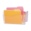 Universal Unbreakable 4-in-1 Wall File, Two Pockets, Plastic, Clear