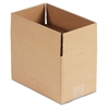 General Supply Brown Corrugated - Fixed-Depth Shipping Boxes, 10l x 6w x 6h, 25/Bundle