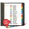 Table of Contents Dividers, Assorted Color 31-Tab, 1-31, Letter, White, 31/Set