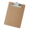 "Universal Hardboard Clipboard, 1"" Capacity, Holds 8 1/2 x 11, Brown"