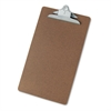 "Universal Hardboard Clipboard, 1"" Capacity, Holds 8 1/2 x 14, Brown"
