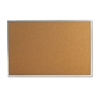 Universal Bulletin Board, Natural Cork, 36 x 24, Satin-Finished Aluminum Frame