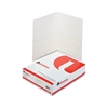 Universal Two-Pocket Portfolio, Embossed Leather Grain Paper, White, 25/Box
