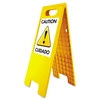 "Headline Sign Floor Tent Sign, Doublesided, Plastic, 10 1/2"" x 25 1/2"", Yellow"