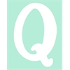 White Capital Letter q