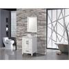 """MTD Vanities Ricca 24"""" Single Sink Bathroom Vanity Set, White"""