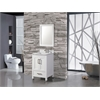 "Ricca 24"" Single Sink Bathroom Vanity Set, White"