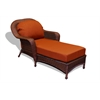 Tortuga Outdoor Lexington Chaise Lounge - Java -   Rave Brick