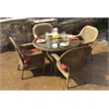 Tortuga Outdoor Lexington 5-Piece Dining Set ~ 4 dining chairs, 1 dining table - Mojave -   Rave Brick