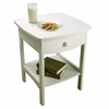 Winsome Wood Claire Accent Table White Finish, 18.03 x 18.11 x 22.05, White