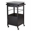 Winsome Wood Davenport Kitchen Cart With Granite Top Black, 23.23 x 19.37 x 34.84, Black