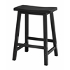 "Winsome Wood Satori 24"" Saddle Seat Bar Stool Black, 17.48 x 14.47 x 24, Black"