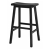 "Winsome Wood Satori 29"" Saddle Seat Bar Stool Black, 17.91 x 15.79 x 28.86, Black"