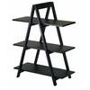Winsome Wood Aaron A-Frame Shelf, 30.1 x 15.2 x 38.3, Black