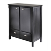 Winsome Wood Timber Cabinet With Drawers, 35.98 x 17.95 x 40, Black