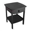 Winsome Wood Claire Accent Table Black Finish, 18.03 x 18.11 x 22.05, Black
