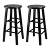 "Winsome Wood Pacey 2-Pc 24"" Bar Stool Set Black, 13.4 x 13.4 x 24.2, Black"
