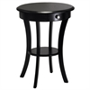 Winsome Wood Sasha Round Accent Table, 20 x 20 x 27, Black