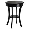 Winsome Wood Sasha Round Accent Table, 20 x 20 x 27, Black