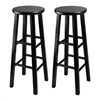 "Winsome Wood Pacey 2-Pc 29"" Bar Stool Set Black, 13.6 x 13.6 x 29.1, Black"