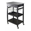 Winsome Wood Julia Utility Cart, 22.68 x 16.06 x 33.94, Black