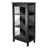 Winsome Wood Poppy Display Cabinet, 23.62 x 15.75 x 47.24, Black