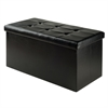 Winsome Wood Ashford Ottoman With Storage Faux Leather, 29.92 x 14.8 x 15, Black