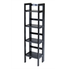 Winsome Wood Terry Folding Bookcase Black, 14 x 11.4 x 51.34, Black