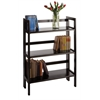 Winsome Wood Terry Folding Bookcase Black, 27.8 x 11.5 x 38.5, Black