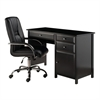 Winsome Wood Delta 2-Pc Set office Desk W/ High Back Chair