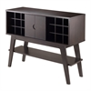 Winsome Wood Monty Wine Console Table, 41.02 x 14.96 x 32.01, Smoke