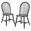 Winsome Wood Whitworth 2-Pc Set Black, 17.25 x 18 x 36.13, Black