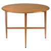 "Winsome Wood Hannah Round 42"" Double Drop Leaf Gate Leg Table, 42 x 42 x 29.5, Light Oak"