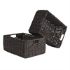 Winsome Wood Granville Set of 2 Medium Foldable Baskets, 15.98 x 11.02 x 7, Chocolate