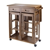 Winsome Wood Suzanne 3-Pc Space Saver Set Teak, 29.61 x 29.13 x 32.76, Teak