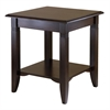 Winsome Wood Nolan End Table, 20 x 20 x 21.97, Cappuccino