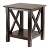 Winsome Wood Xola End Table, 20 x 19.13 x 21.97, Cappuccino