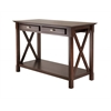 Winsome Wood Xola Console Table With 2 Drawers, 45 x 21.02 x 30, Cappuccino