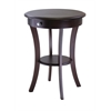Winsome Wood Sasha Round Accent Table, 20 x 20 x 27, Cappuccino
