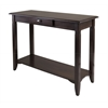 Winsome Wood Nolan Console Table With Drawer, 40 x 15.98 x 30, Cappuccino