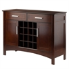 Winsome Wood Gardner Buffet Cabinet, 43.7 x 15.87 x 32.2, Cappuccino