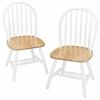 Winsome Wood Windsor 2-Pc Set Natural & White, 17.5 x 16.5 x 37, Natural & White