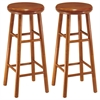 "Winsome Wood Oakley 2-Pc 30"" Swivel Seat Bar Stool Set Cherry, 13.5 x 13.5 x 30.94, Cherry"