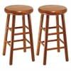 "Winsome Wood Oakley 2-Pc 24"" Swivel Seat Bar Stool Set Cherry, 12.8 x 12.8 x 25.28, Cherry"