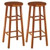 "Winsome Wood Tabby 2-Pc 30"" Bar Stool Set Cherry, 13.5 x 13.5 x 30.16, Cherry"