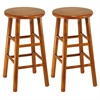"Winsome Wood Tabby 2-Pc 24"" Bar Stool Set Cherry, 12.8 x 12.8 x 24.49, Cherry"